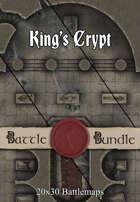 King's Crypt | 30x20 Battlemaps [BUNDLE]