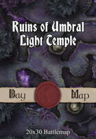 Seafoot Games - Ruins of Umbral Light Temple   20x30 Battlemap