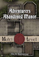 30x20 Multi-Level Battlemap - Adventurers Abandoned Manor