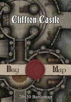 30x20 Multi-Level Battlemap - Cliffton Castle