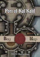 30x20 Multi-Level Battlemap - Port of Kal'Kalif