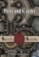 Ports and Castles | 30x20 Multi-Level Battlemaps [BUNDLE]