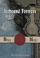 40x30 Battlemap - Icebound Fortress