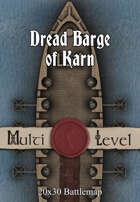 30x20 Multi-Level Battlemap - Dread Barge of Karn