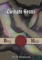30x20 Multi-Level Battlemap - Twilight Grotto