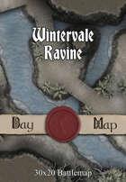 30x20 Multi-Level Battlemap - Wintervale Ravine