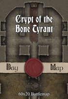 60x20 Battlemap - Crypt of the Bone Tyrant