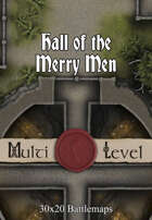 30x20 Multi-Level Battlemap - Hall of the Merry Men