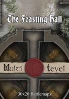 30x20 Multi-Level Battlemap - The Feasting Hall