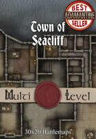 30x20 Multi-Level Battlemap - Town of Seacliff