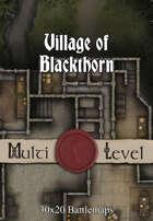 30x20 Multi-Level Battlemap - Village of Blackthorn