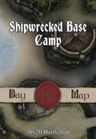 30x20 Battlemap - Shipwrecked Base Camp