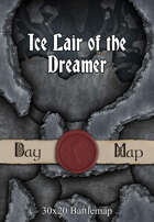 30x20 Battlemap - Ice Lair of the Dreamer