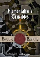 Elementalist's Crucibles | 30x20 Battlemaps [BUNDLE]
