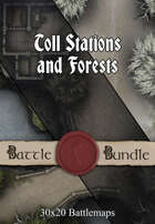 Toll Stations and Forests | 30x20 Battlemaps [BUNDLE]