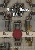 30x20 Battlemap - Airship Docks Battle