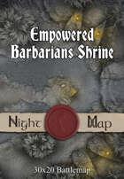 30x20 Battlemap - Empowered Barbarians Shrine