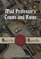 Mad Professor's Towns and Ruins | 30x20 Battlemaps [BUNDLE]