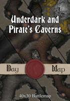 Underdark and Pirate's Caverns   40x30 Battlemaps [BUNDLE]