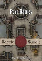 Port Battles | 30x20 Battlemaps [BUNDLE]