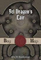 40x30 Battlemap - Fel Dragon's Lair