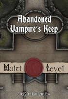 30x20 Multi-Level Battlemap - Abandoned Vampire's Keep