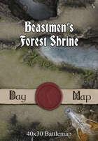 40x30 Battlemap - Beastmen's Forest Shrine
