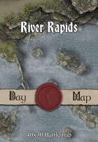 40x30 Battlemap - River Rapids