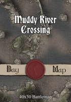 40x30 Battlemap - Muddy River Crossing