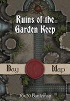 30x20 Battlemap - Ruins of the Garden Keep