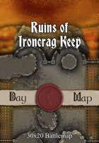 30x20 Battlemap - Ruins of Ironcrag Keep