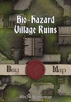 40x30 Battlemap - Bio-Hazard Village Ruins