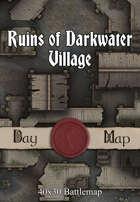 40x30 Battlemap - Ruins of Darkwater Village