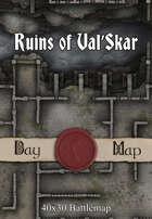 40x30 Battlemap -  Ruins of Val'Skar