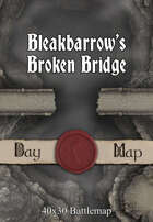 40x30 Battlemap - Bleakbarrow's Broken Bridge