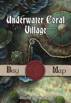 40x30 Battlemap - Underwater Coral Village