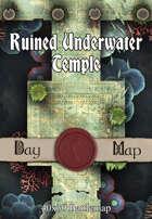 40x30 Battlemap - Ruined Underwater Temple