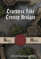 40x30 Battlemap - Trackless Fens Treetop Bridges