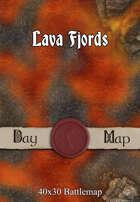 40x30 Battlemap - Lava Fjords