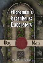 40x30 Battlemap - Alchemist's Greenhouse Laboratory