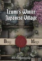40x30 Battlemap - Izumi's Winter Japanese Village