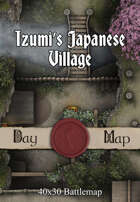 40x30 Battlemap - Izumi's Japanese Village