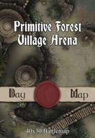 40x30 Battlemap - Primitive Forest Village Arena