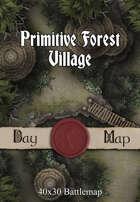 40x30 Battlemap - Primitive Forest Village