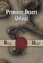 40x30 Battlemap - Primitive Desert Village