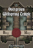 40x30 Battlemap - Overgrown Wellspring Temple