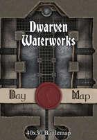 40x30 Battlemap - Dwarven Waterworks