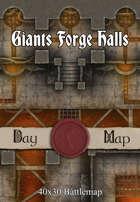 40x30 Battlemap - Giants Forge Halls