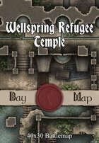 40x30 Battlemap - Wellspring Refugee Temple