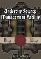 40x30 Battlemap - Undercity Sewage Management Facility